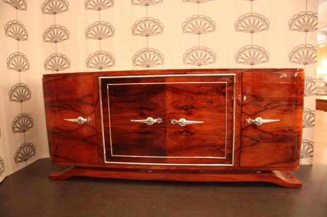 Enfilade sideboard art déco en palissandre de Rio ref enf : 17 /art deco sideboard rosewood