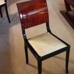 6 Chaises,chairs art deco en palissandre de Rio/art deco dining room chair rosewood VENDU/SOLD