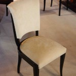 6 Chaises,chairs Art deco laquée noir/art deco dining room chair