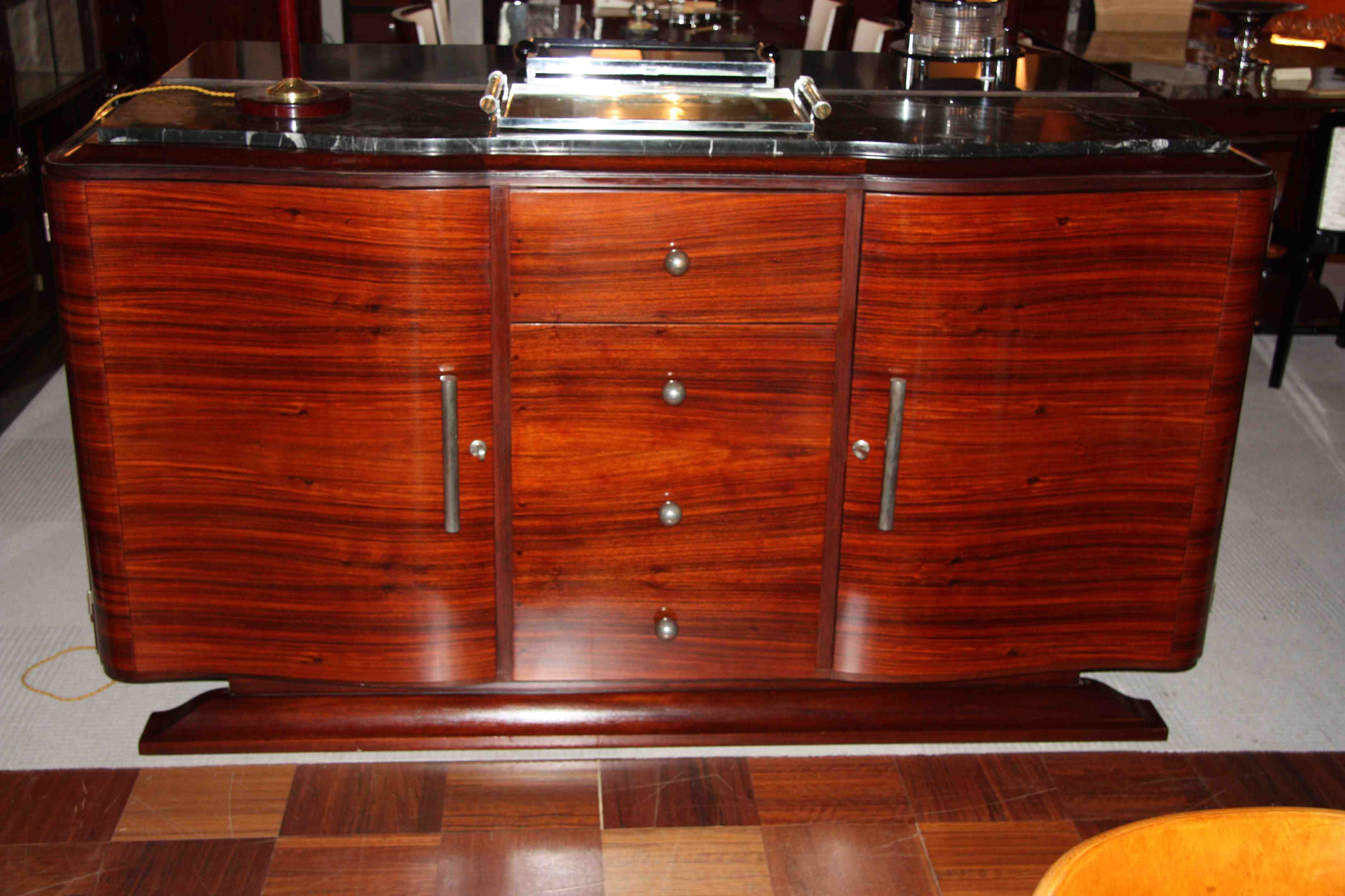 enfilade sideboard en palissandre de rio ref enf 16 art deco sideboard rosewood esprit art. Black Bedroom Furniture Sets. Home Design Ideas