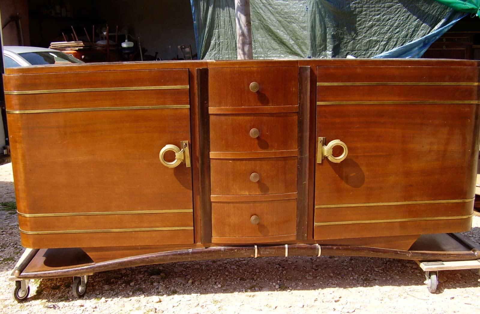 enfilade sideboard en acajou art d co ref enf 11 esprit art d co vente meubles art d co 1930. Black Bedroom Furniture Sets. Home Design Ideas