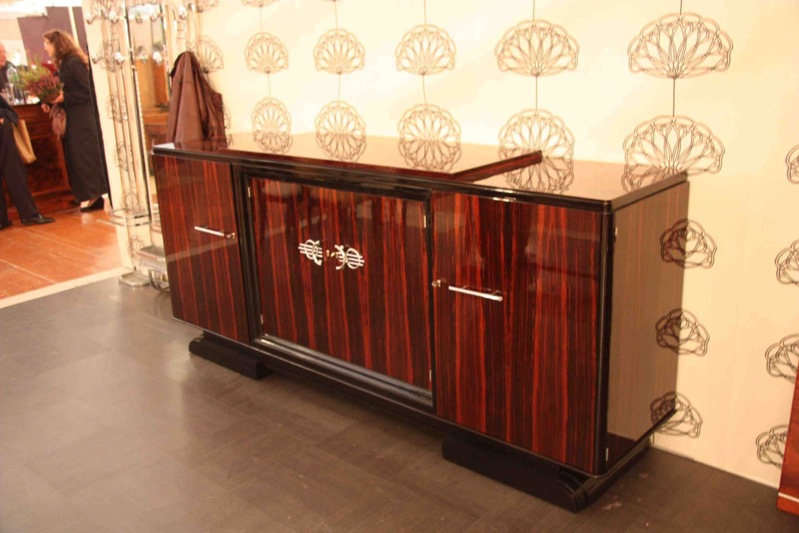 Enfilade sideboard en b ne de macassar art d co esprit art d co vente meub - Meuble art deco occasion ...