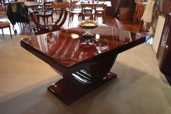 Table Art Déco à rallonges en palissandre des indes VENDU