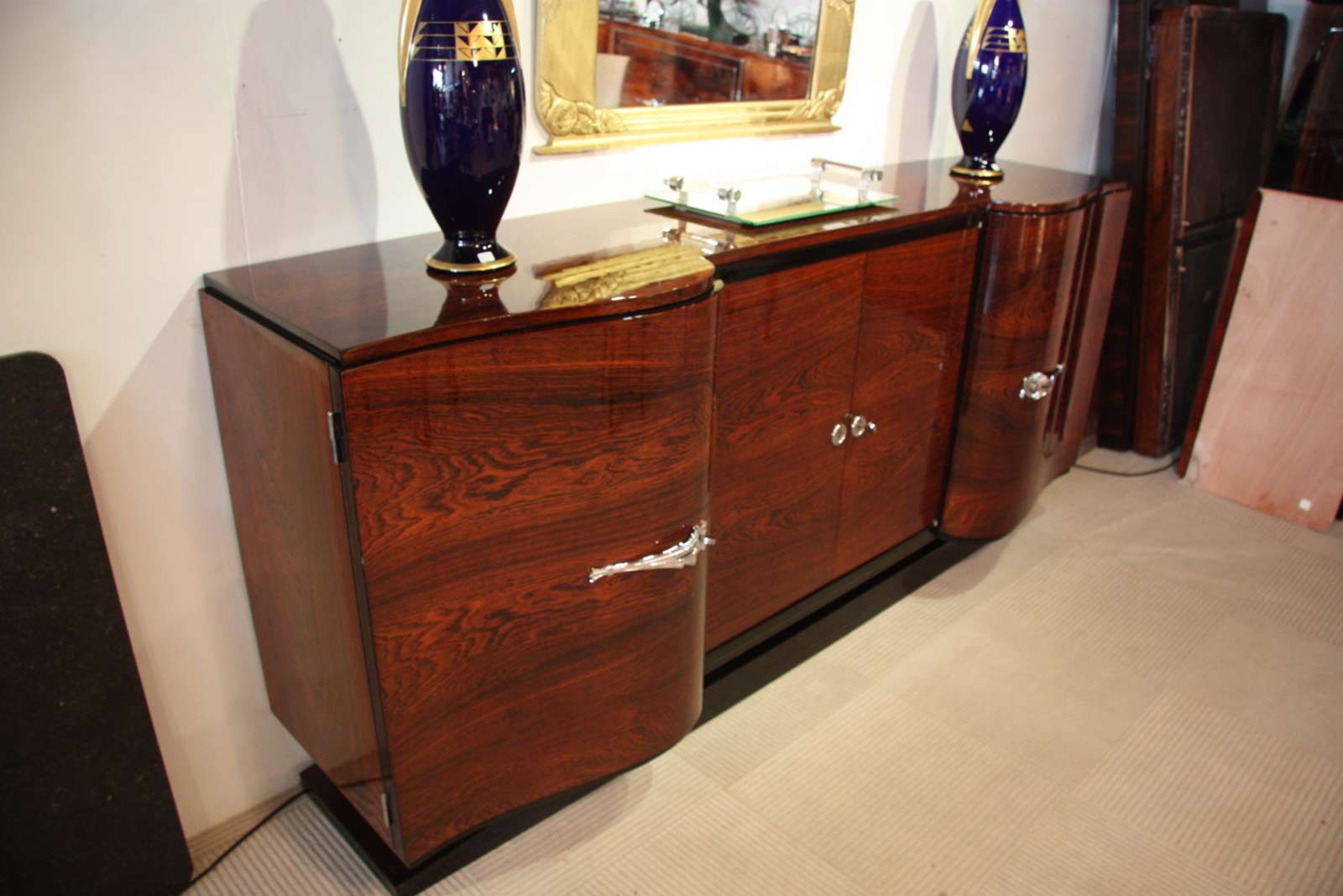 Enfilade sideboard en palissandre de rio art d co ref enf for Meuble art deco belgique