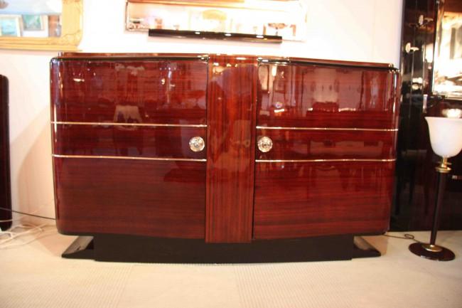Enfilade sideboard art déco en palissandre des indes VENDU/art deco sideboard rosewood SOLD