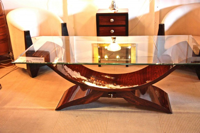Table basse art deco en palissandre de rio dining room rosewood
