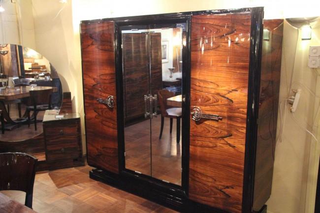 Armoire art déco en palissandre de Rio/ art deco dressing room rose/VENDU /SOLDwood