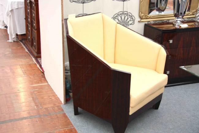Paire de fauteuils art déco en ébène de Makassar /art deco armchair in makassar