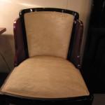 Six chaises art déco en palissandre de Rio /dining room chairs art deco  rosewood