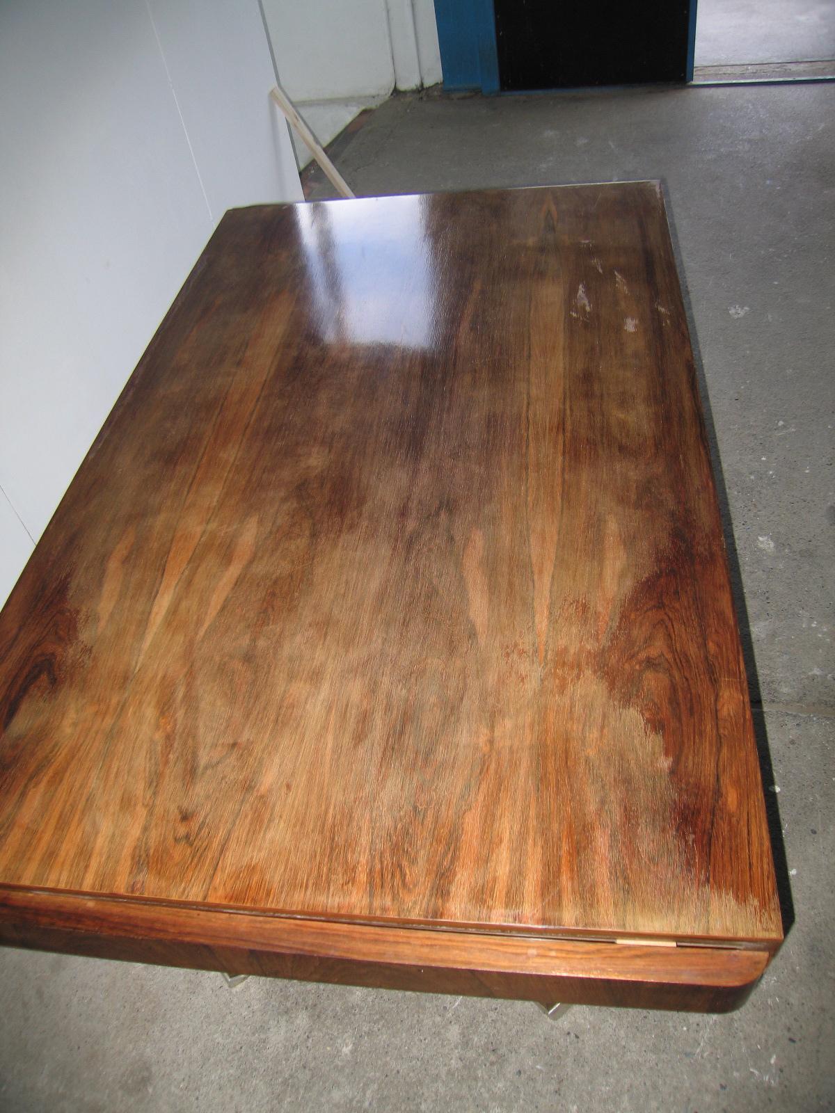 Table rallonges art d co en palissandre de rio dining for Table palissandre avec rallonge