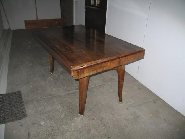 Table à rallonges art déco en palissandre de Rio /dining table art deco rosewood
