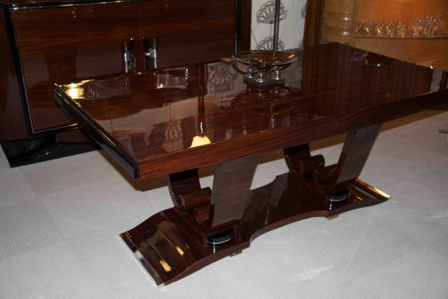 Table art deco à rallonges en palissandre des indes/dining room table art deco palisander VENDU/SOLD