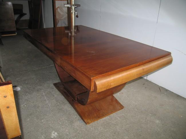 Table à rallonges art deco en palissandre des Indes/ art deco table in palisender