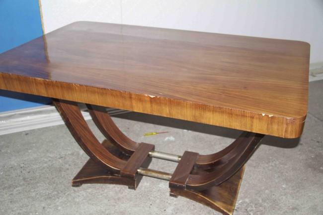 Table à rallonges art deco en palissandre de Rio /dinning table in palissender of rio