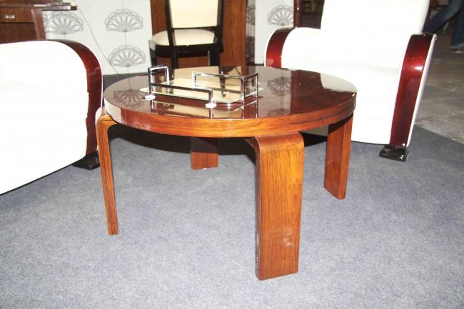 Table basse art deco en palissandre de rio / table salon VENDUE