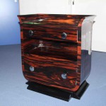 Grand chevet art déco en ébène de Macassar /nightstand chest art deco eben VENDU/SOLD