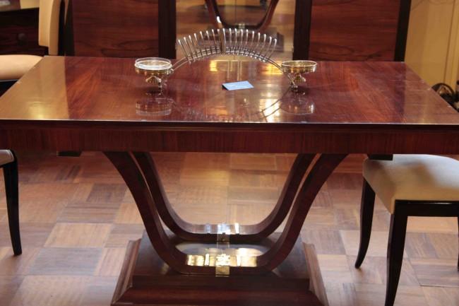 Table à rallonges en palissandre des indes ref 7 /dinning table art deco in palissender