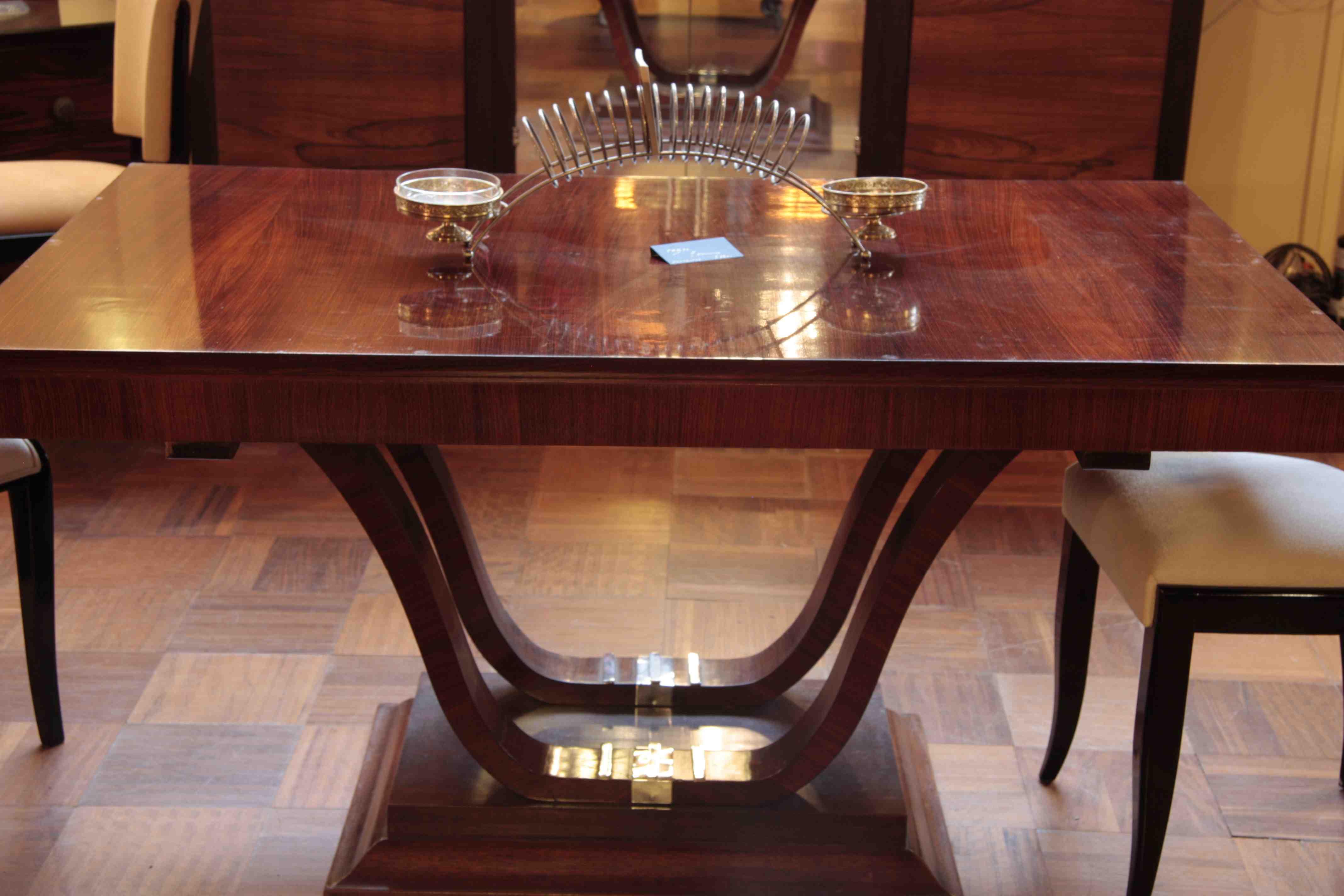 Table rallonges en palissandre des indes ref 7 dinning - Table en palissandre massif ...