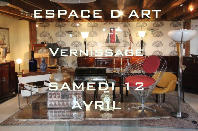 Vernissage magasin ESPACE D ART MORGES