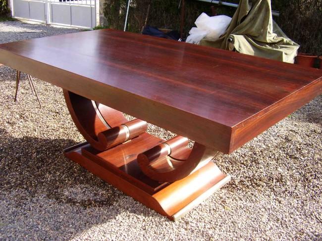 Table salle à manger art deco en palissandre des indes/dinning table art deco VENDU