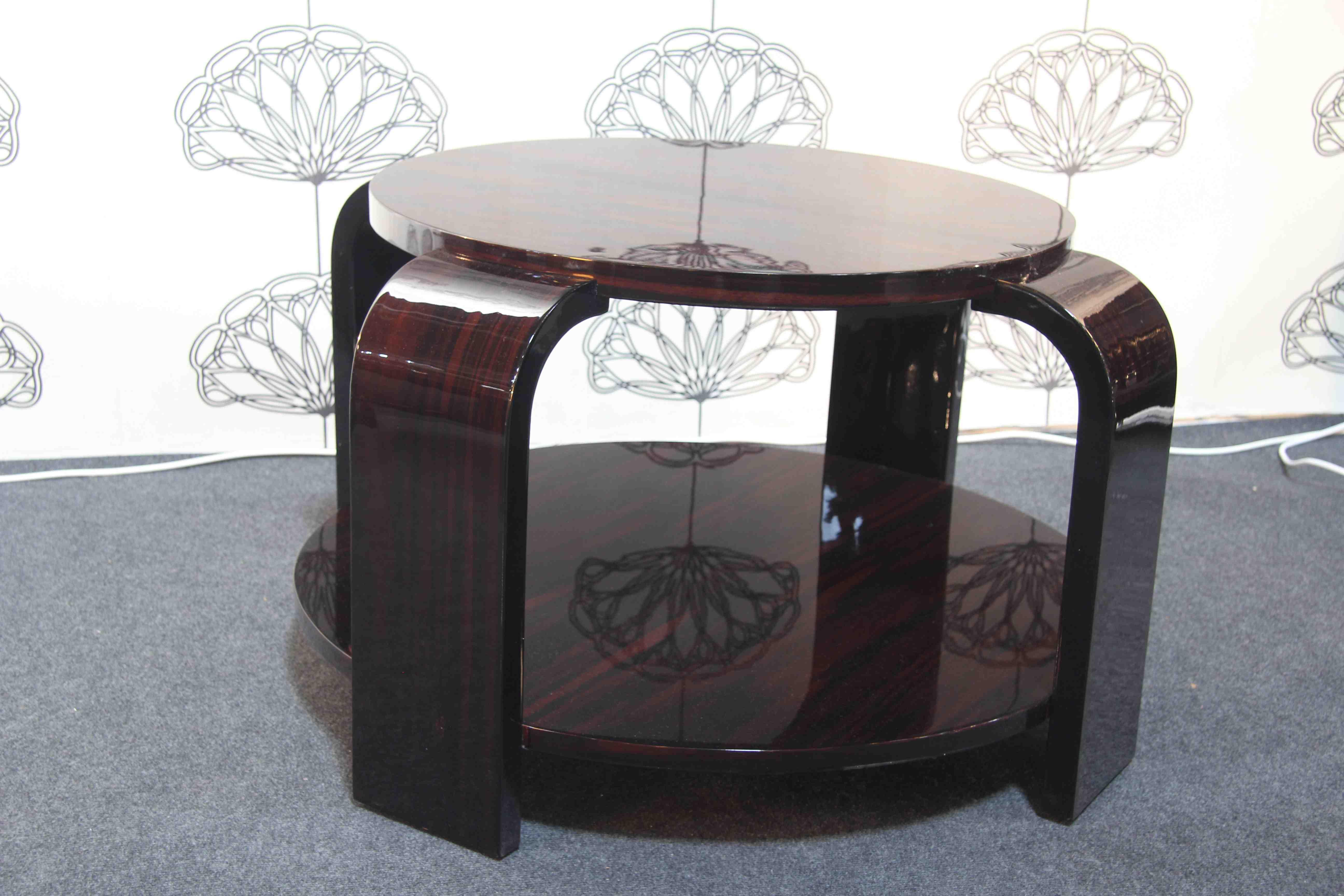 table basse art deco en b ne de macassar art deco table ebony vendu esprit art d co vente. Black Bedroom Furniture Sets. Home Design Ideas