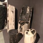 Bille chaise en bois pétrifè /crytal wood petrified wood chair