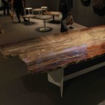 Table en bois pétrifié / petrified table crytal wood