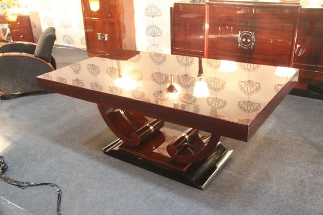 Table de salle à manger art deco en palissandre des indes/ Dinning table art deco/ VENDU