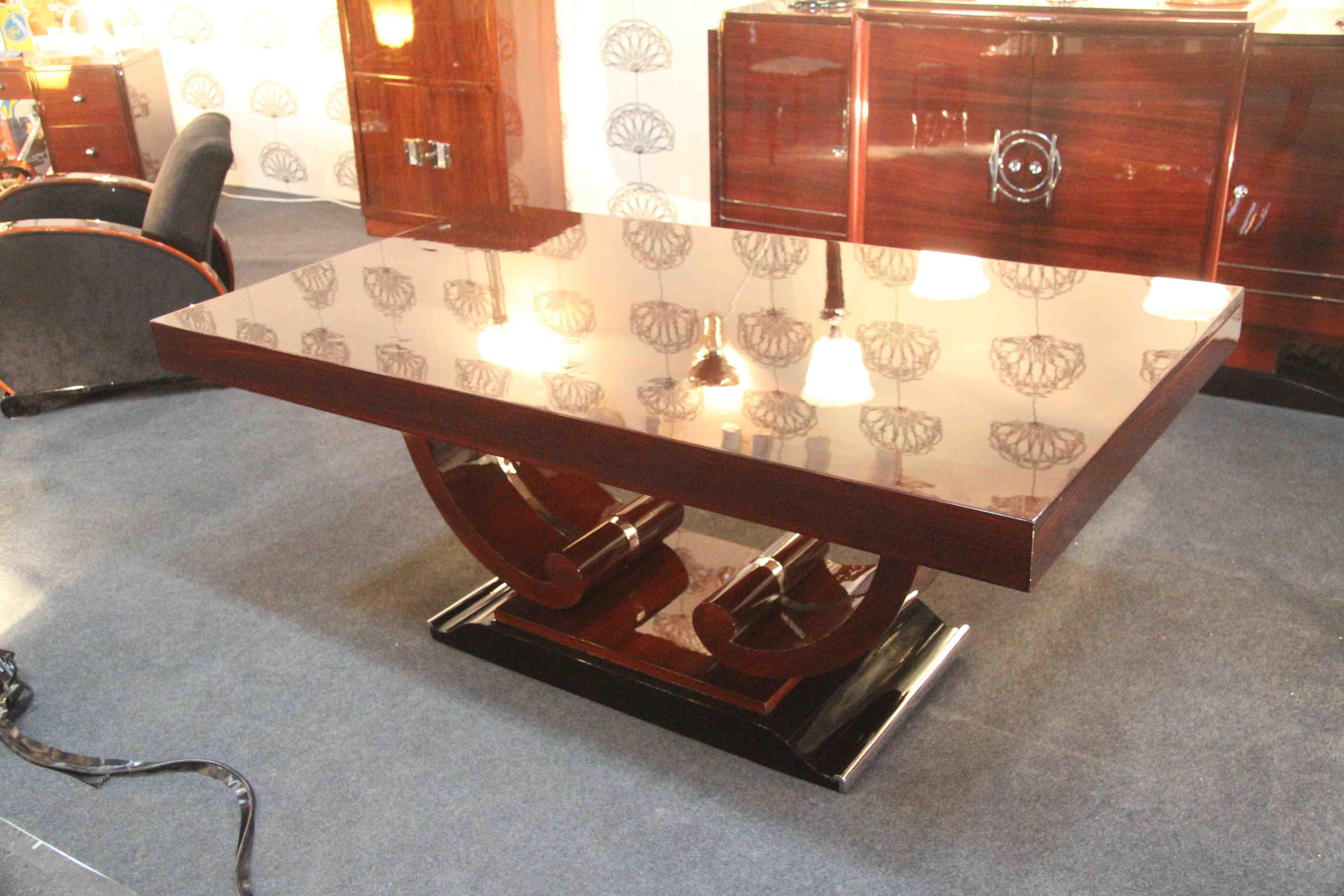 Table De Salle A Manger Art Deco En Palissandre Des Indes Dinning