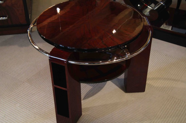 Table basse art deco en palissandre des indes /art deco table in palissender VENDU