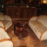 Salon art deco ref sl :4/ quatre fauteuils et un canapé deux places