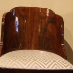 Chaises gondoles Art deco en palissandre de Rio ref ch :2 / chairs art deco palissender rio