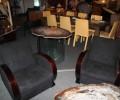 Salon  art deco ébène de macassar deux fauteuils et un canapè  ref sl 2/ armchair art deco macassar