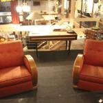 Salon art deco ,deux fauteuils et un canapè ref sl : 1