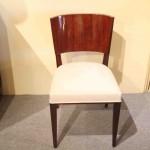 Chaise art deco en Palissandre des indes ref : ch 1 / chairs art deco Palissender VENDU
