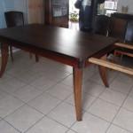 Table à rallonge artdeco en palissandre des indes Ref tab :1 /Dining  table art deco