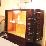 Bar art deco,Vitrine en Palissandre des Indes ref bar :1