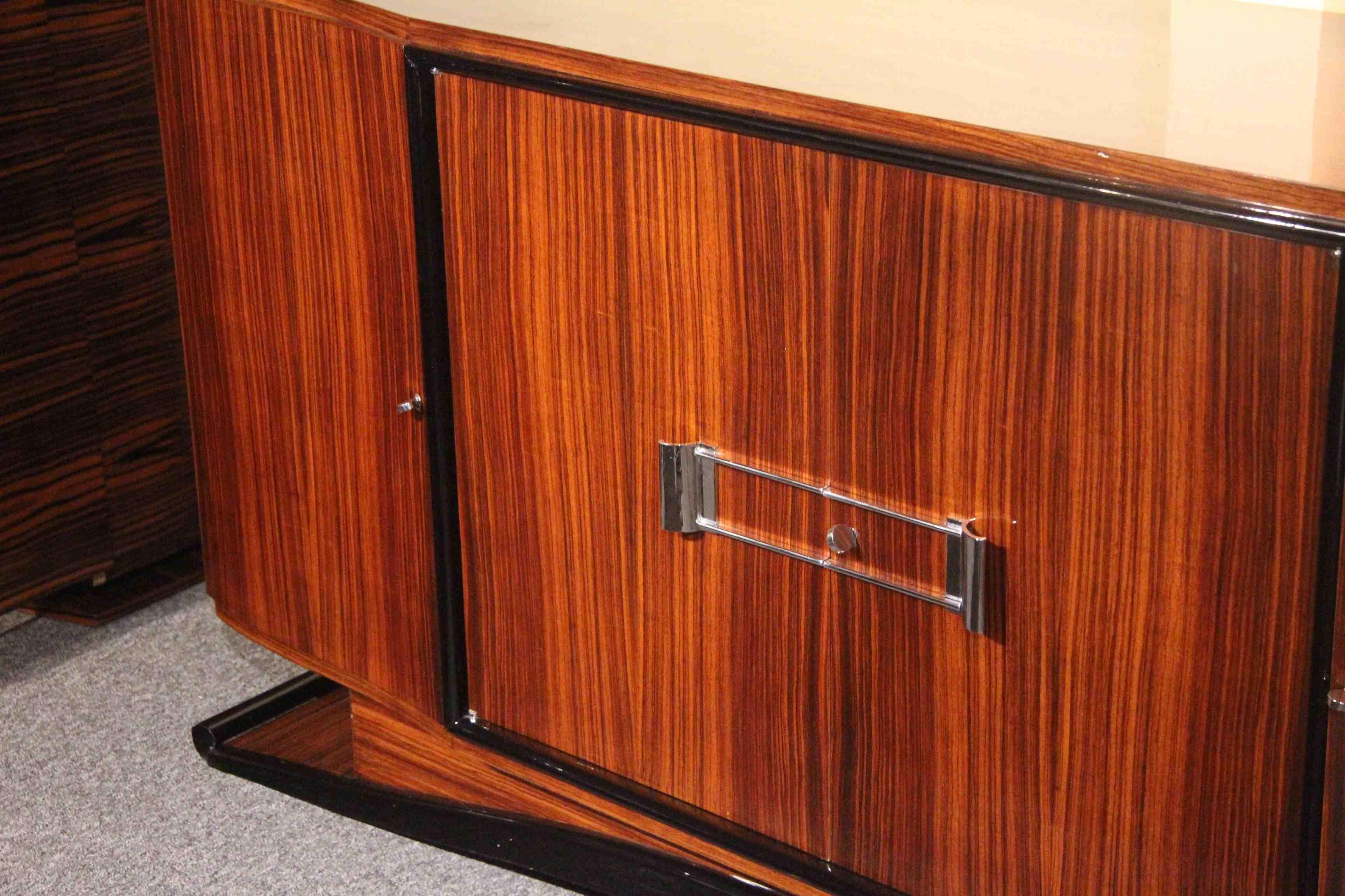 salle manger art deco en palissandre des indes ref sam 2. Black Bedroom Furniture Sets. Home Design Ideas