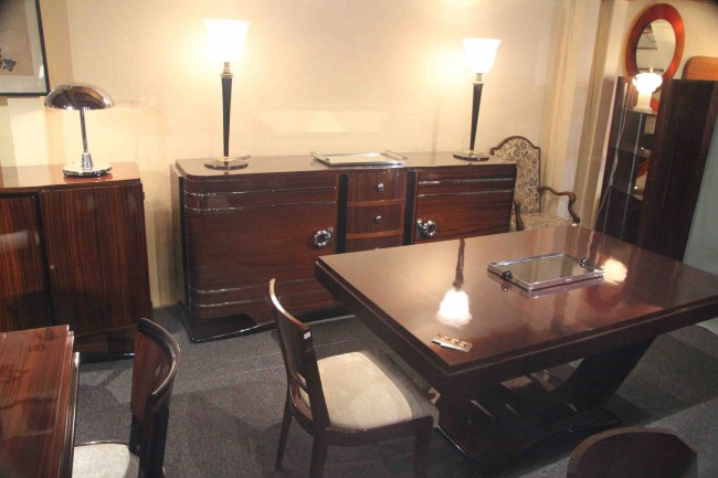 salle manger art deco en acajou ref 1 dining room mahogany esprit art d co vente meubles. Black Bedroom Furniture Sets. Home Design Ideas