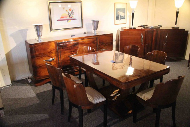 Salle à manger art deco en palissandre de rio ref sam :3 /Dining room art deco
