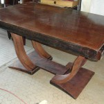 Table art deco en palissandre des indes ref tab : 22  Dining table art deco palissender