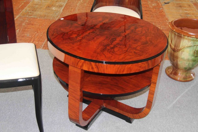 Table basse art deco noyer ref :tabb 4