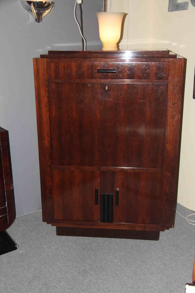 secr taire abattant art deco bar art deco en palissandre de rio esprit art d co vente. Black Bedroom Furniture Sets. Home Design Ideas