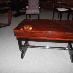 Table basse à deux volets art deco en palissandre de rio  ref tabb : 8