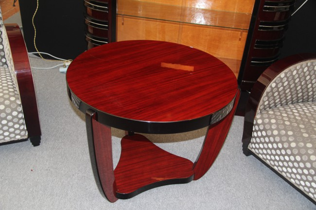 Table basse art deco en palissandre des indes ref :tabb 9