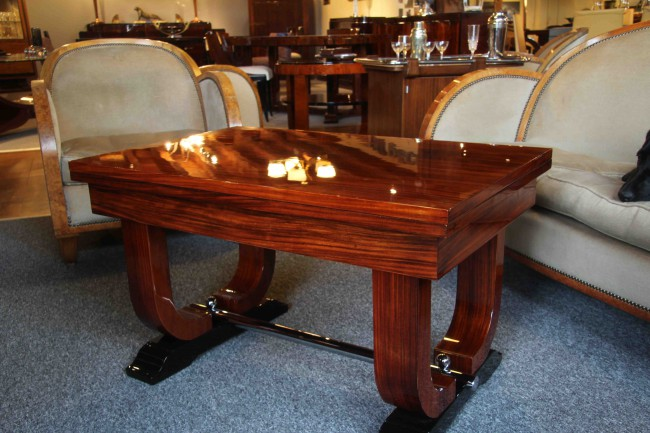 Table basse  art deco en palissandre des indes ref:tabb 9