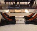 Table basse art deco palissandre de rio ref :Tabb 10