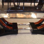 Table basse art deco palissandre de rio ref :Tabb 19