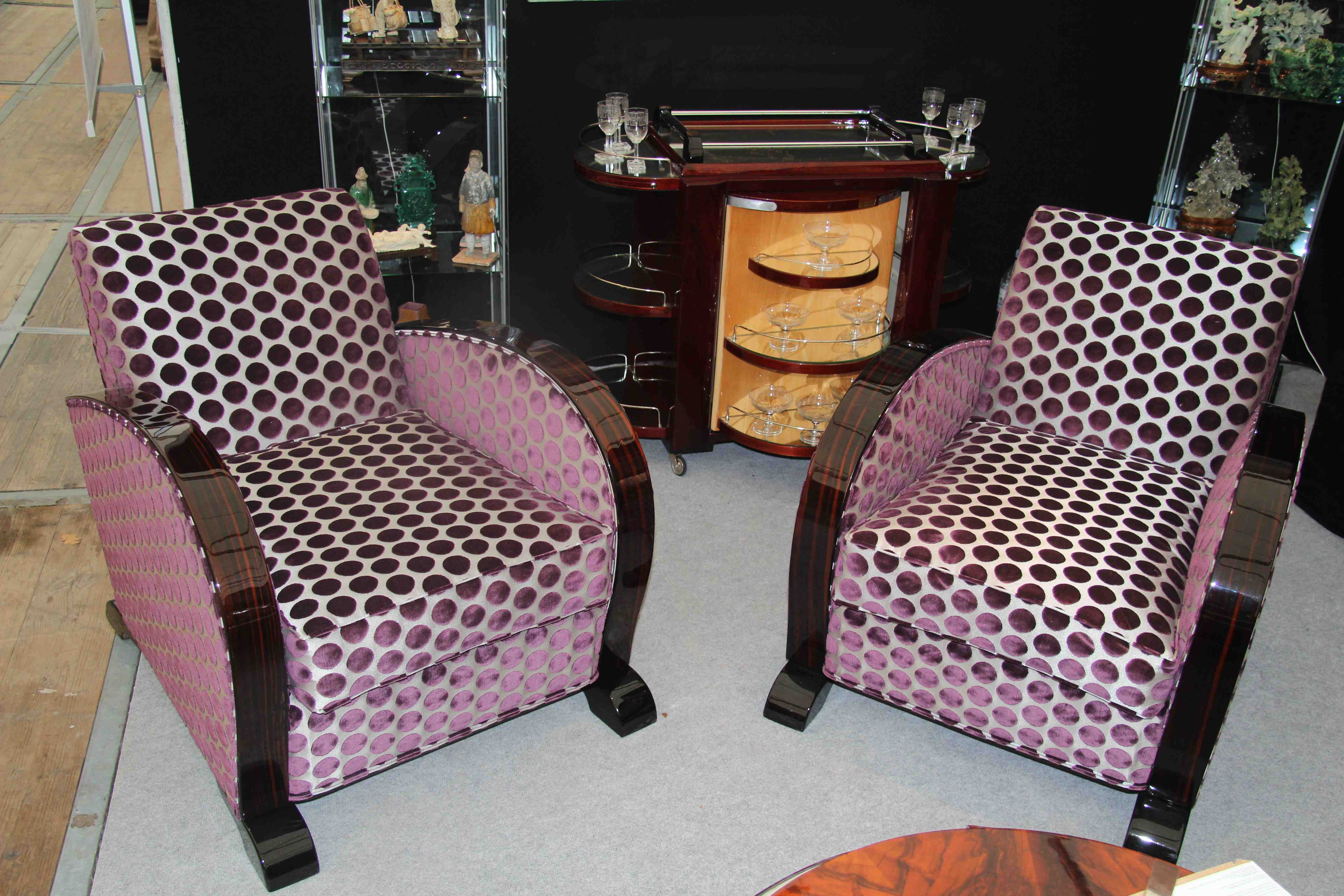 fauteuils club art deco b ne de macassar armchair club art deco esprit art d co vente. Black Bedroom Furniture Sets. Home Design Ideas