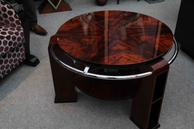 Table basse art deco en noyer ref: tabb 10
